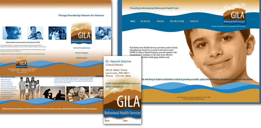 Gila Behavioral Health Services: Logo, Brochure, Business Card, Website
