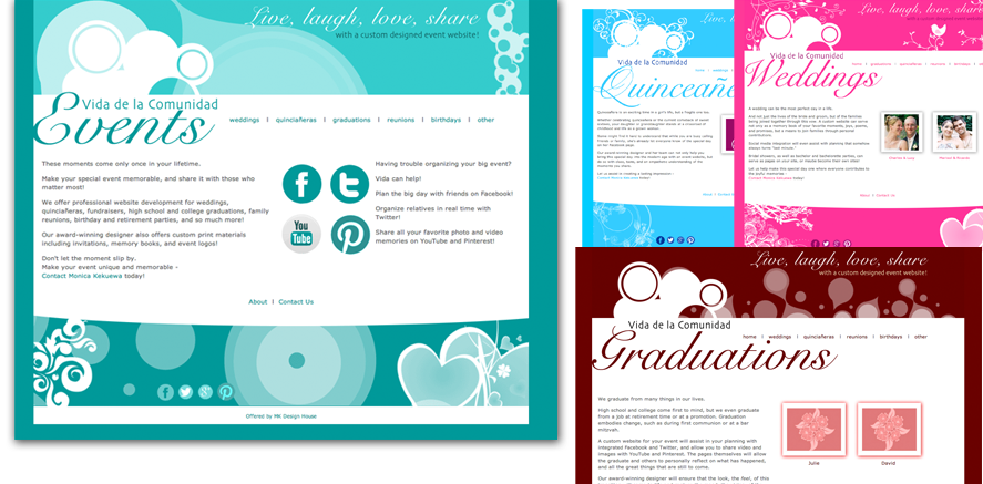 Live, Laugh, Love, Share... Vida de la Comunidad Events website